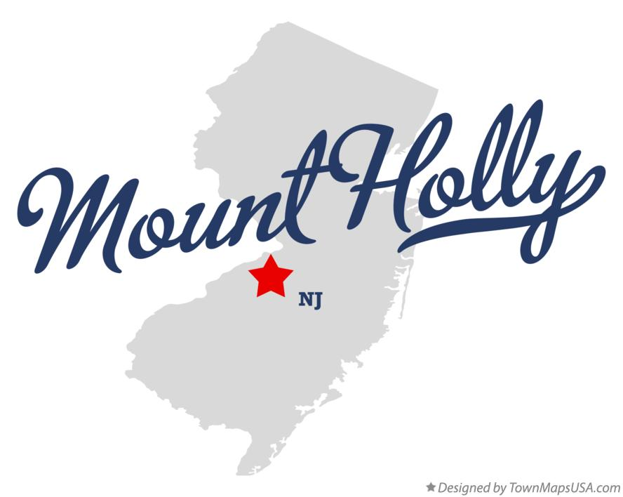 Map of Mount Holly New Jersey NJ