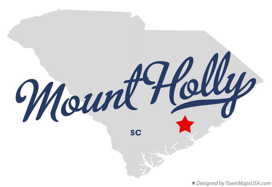 Map of Mount Holly South Carolina SC