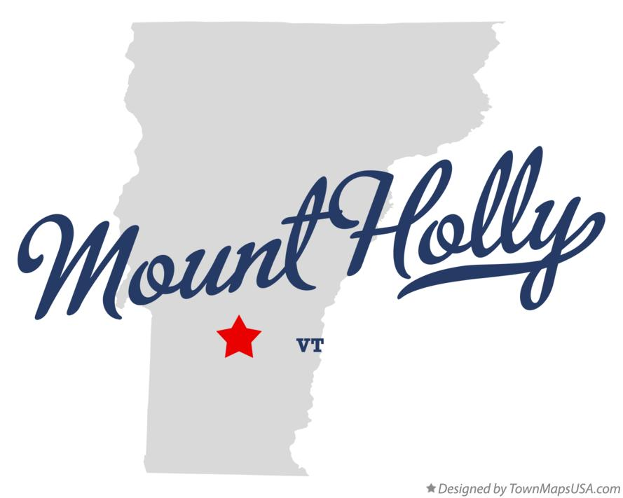 Map of Mount Holly Vermont VT