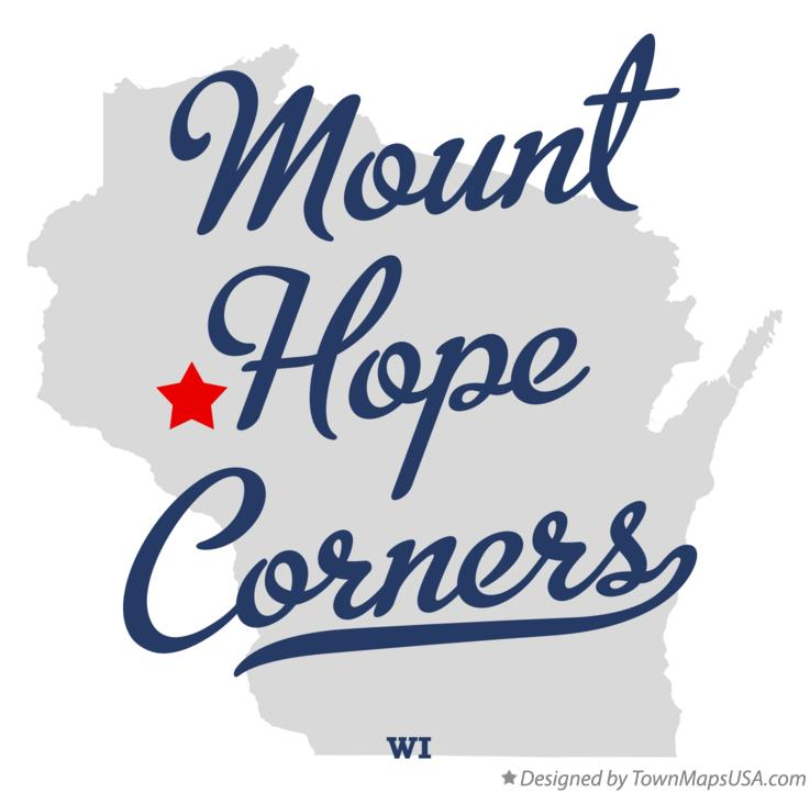 Map of Mount Hope Corners Wisconsin WI