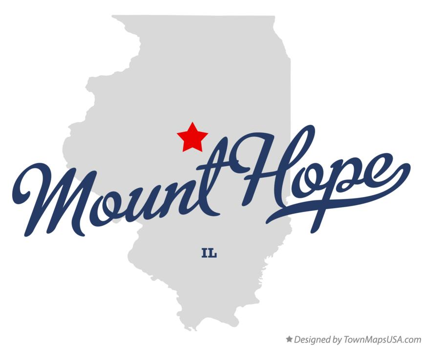 Map of Mount Hope Illinois IL