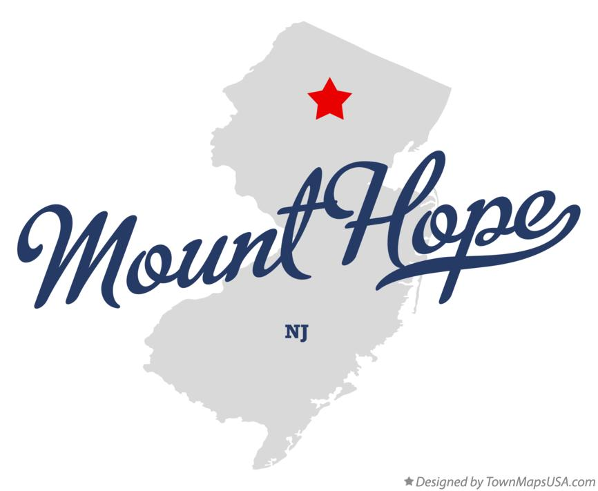 Map of Mount Hope New Jersey NJ
