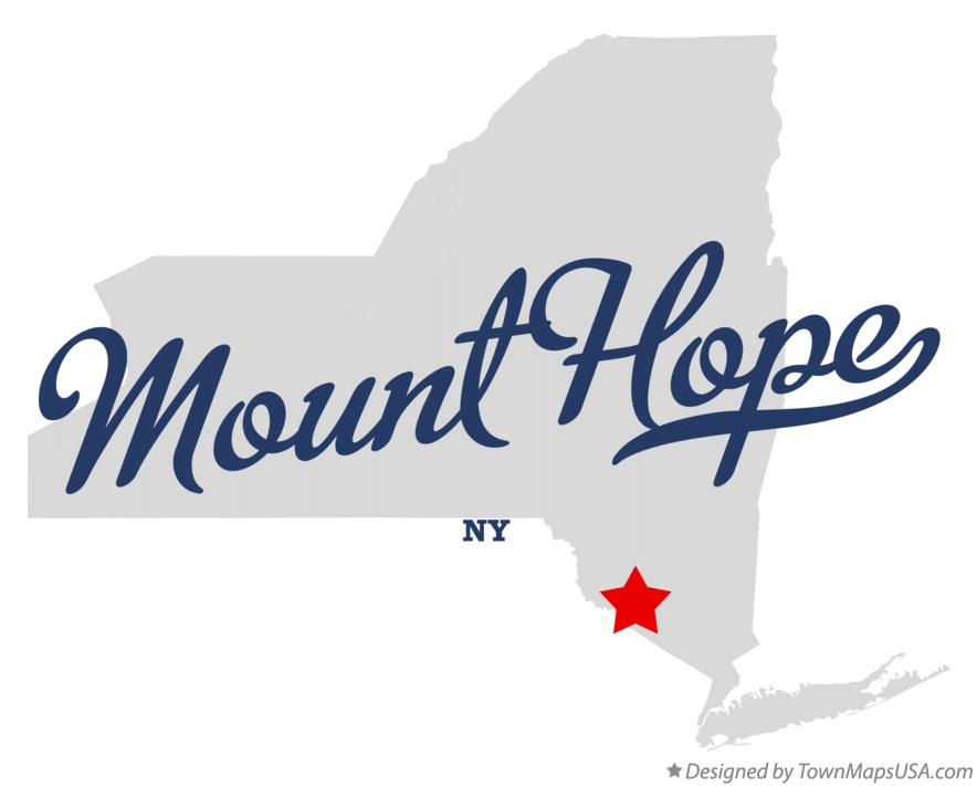 Map of Mount Hope New York NY