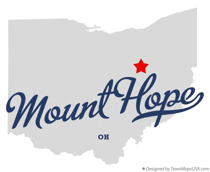 Map of Mount Hope Ohio OH