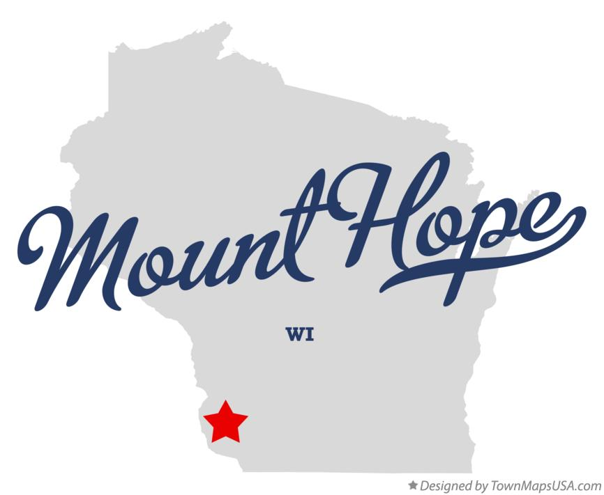 Map of Mount Hope Wisconsin WI