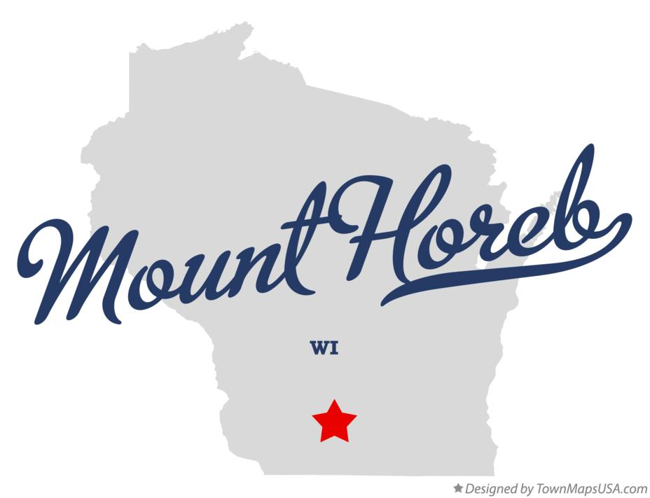 Map of Mount Horeb Wisconsin WI