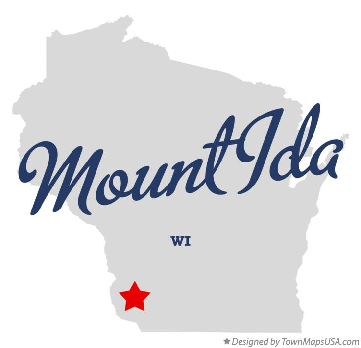 Map of Mount Ida Wisconsin WI