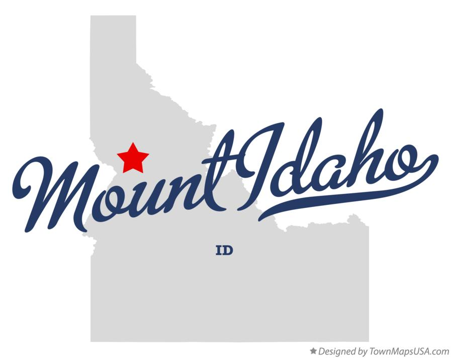 Map of Mount Idaho Idaho ID