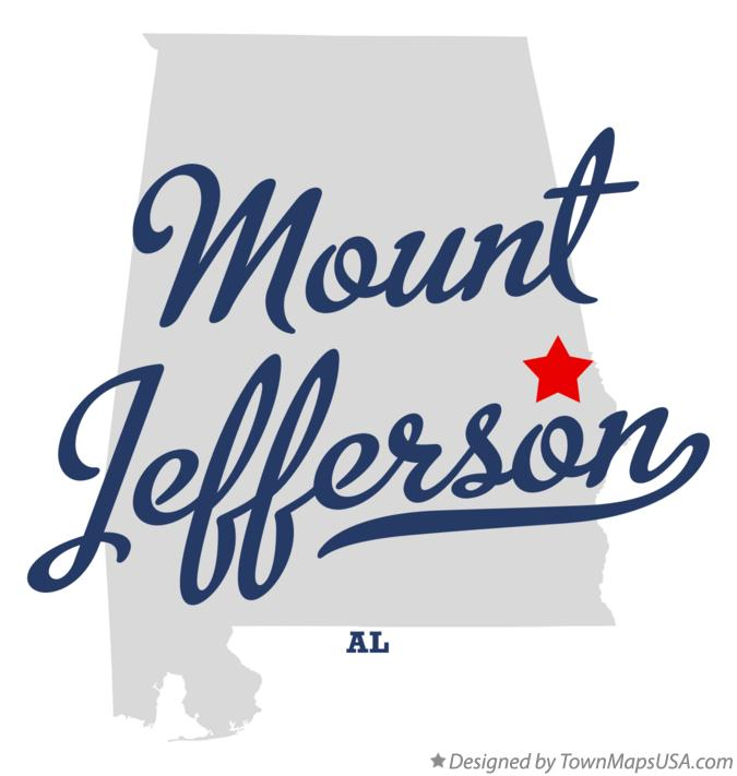 Map of Mount Jefferson Alabama AL