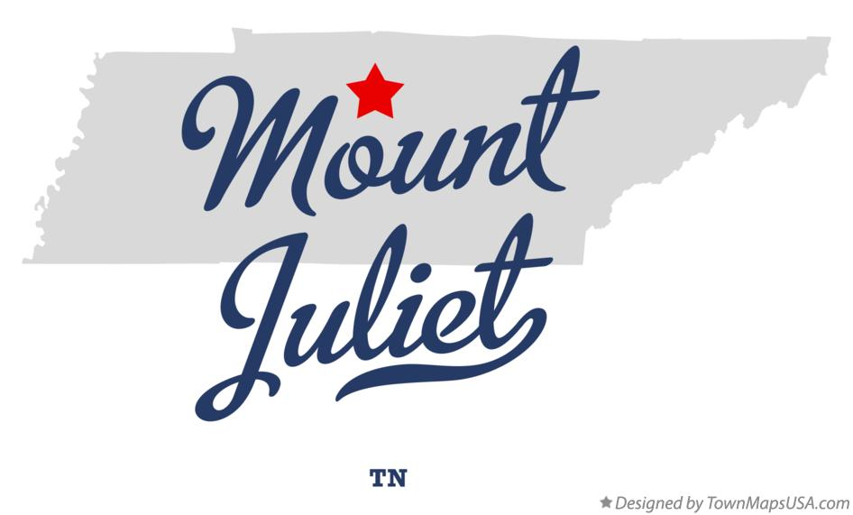 Map of Mount Juliet Tennessee TN