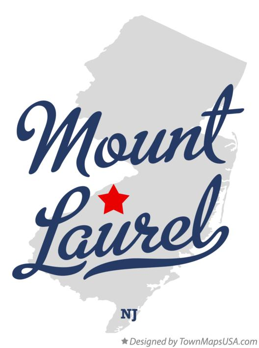 Map of Mount Laurel New Jersey NJ