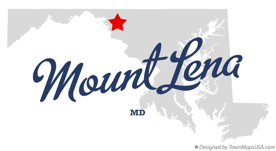 Map of Mount Lena Maryland MD