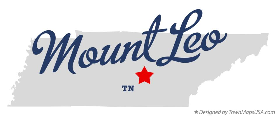 Map of Mount Leo Tennessee TN