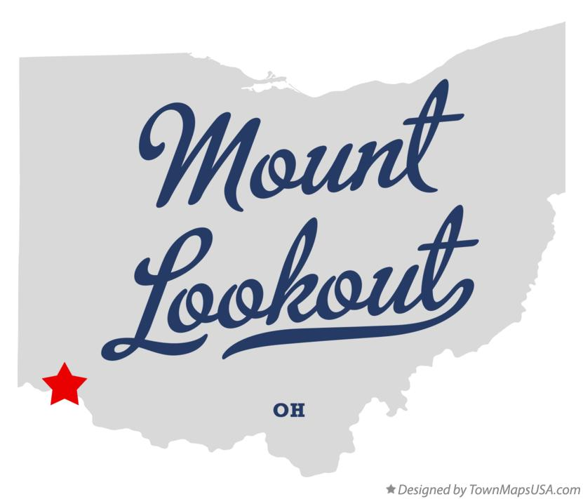 Map of Mount Lookout Ohio OH