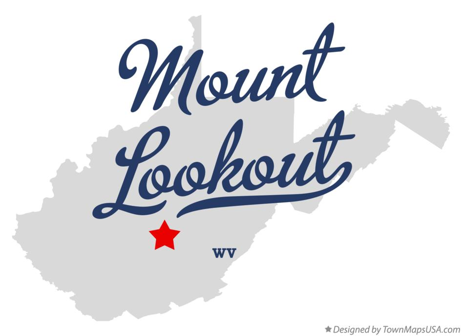 Map of Mount Lookout West Virginia WV