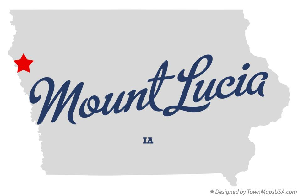 Map of Mount Lucia Iowa IA