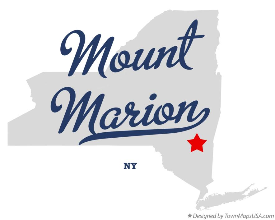 Map of Mount Marion New York NY