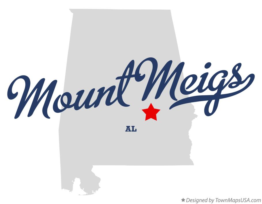 Map of Mount Meigs Alabama AL