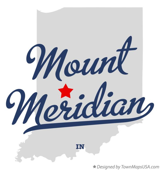 Map of Mount Meridian Indiana IN