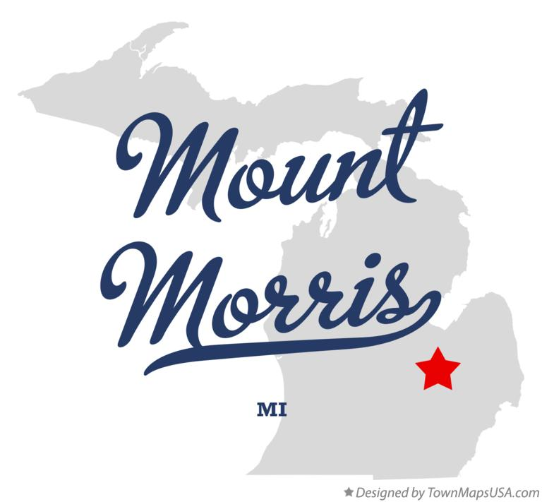 Map of Mount Morris Michigan MI