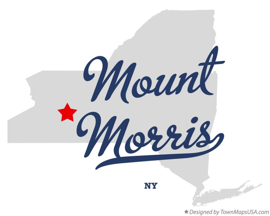 Map of Mount Morris New York NY