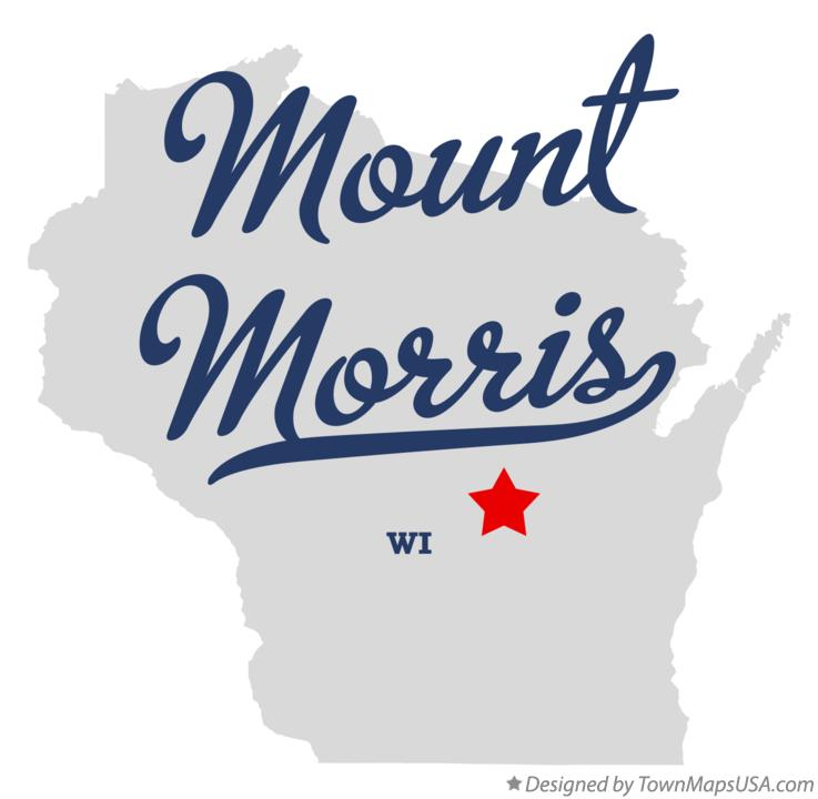 Map of Mount Morris Wisconsin WI