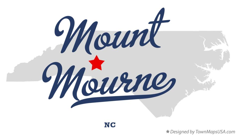 Map of Mount Mourne North Carolina NC