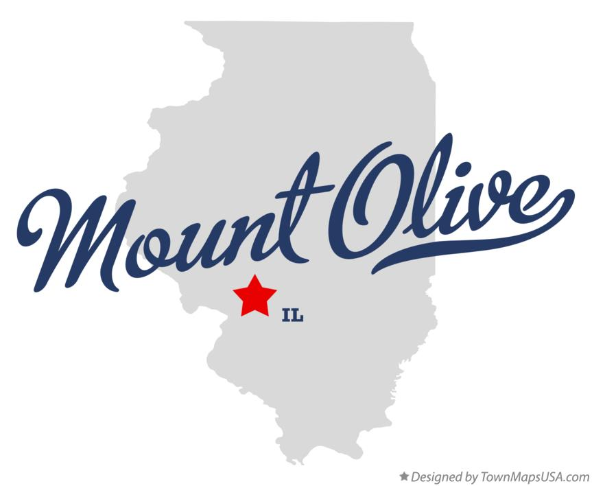 Map of Mount Olive Illinois IL