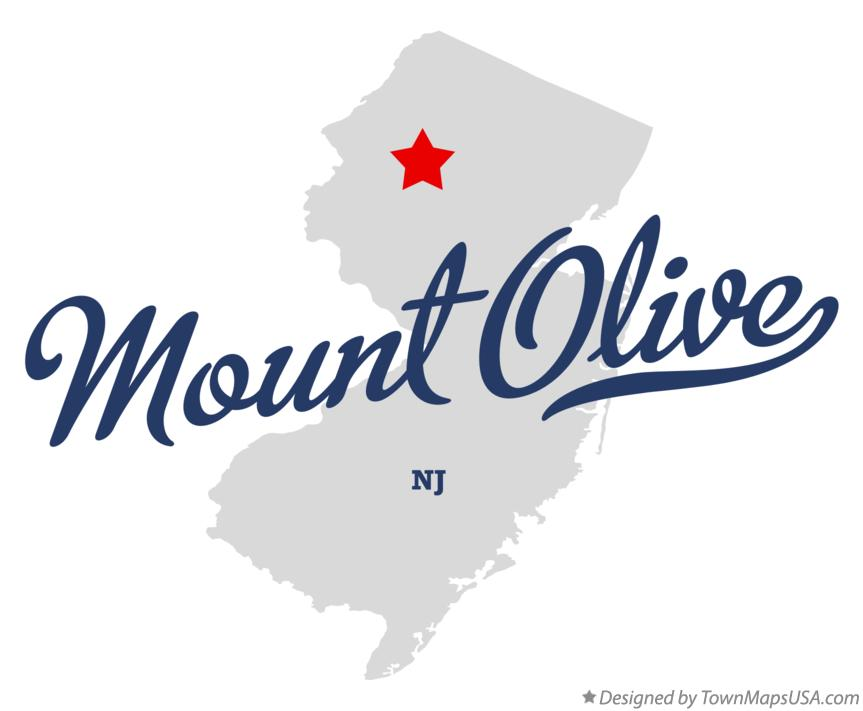 Map of Mount Olive New Jersey NJ