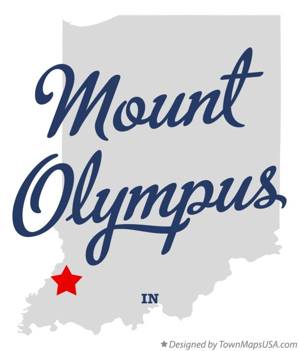 Map of Mount Olympus Indiana IN