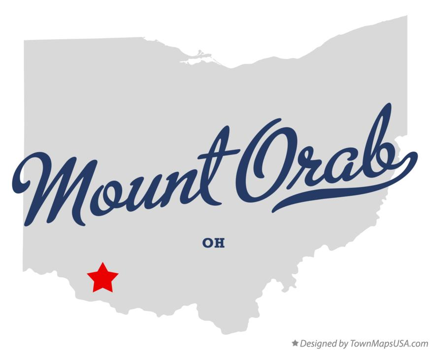 Map of Mount Orab Ohio OH