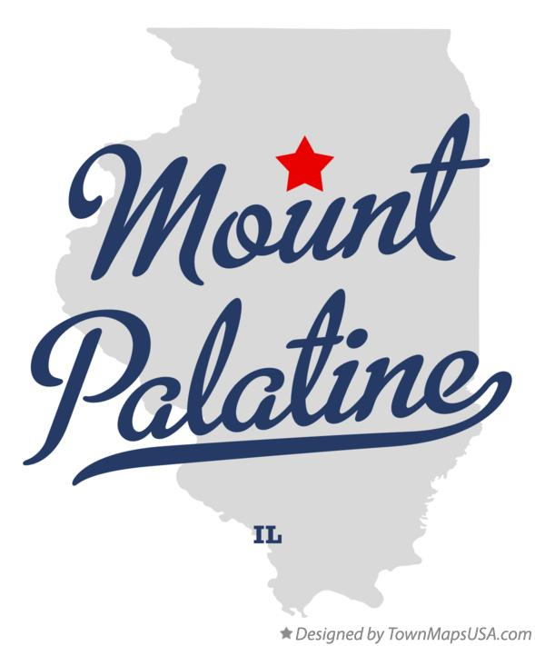 Palatine Illinois Map.Map Of Mount Palatine Il Illinois