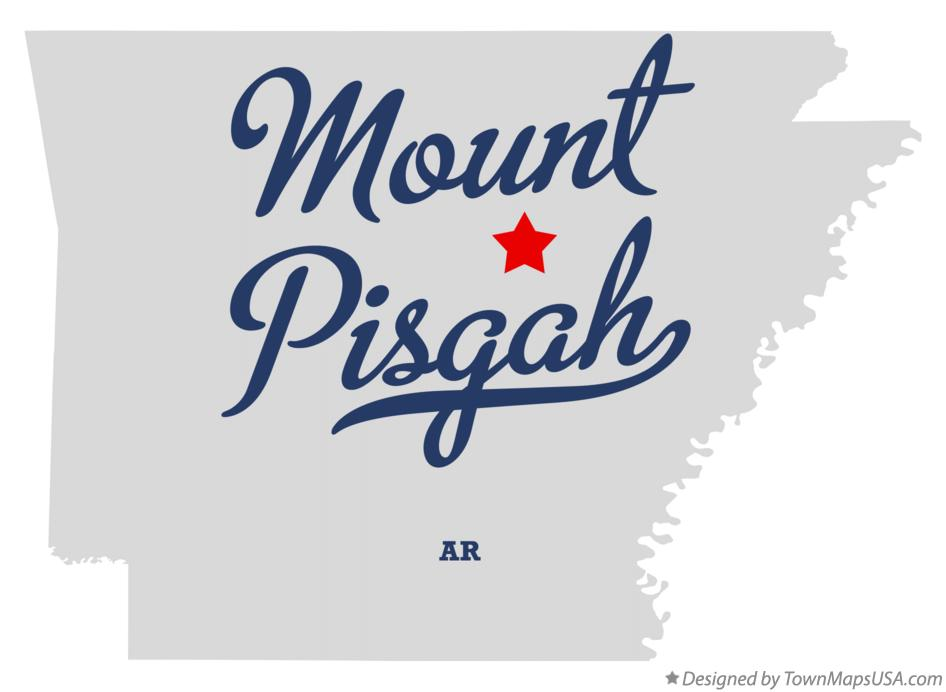 Map of Mount Pisgah Arkansas AR