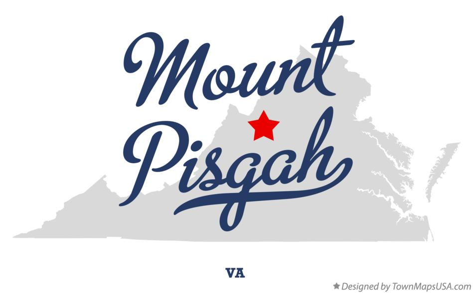 Map of Mount Pisgah Virginia VA