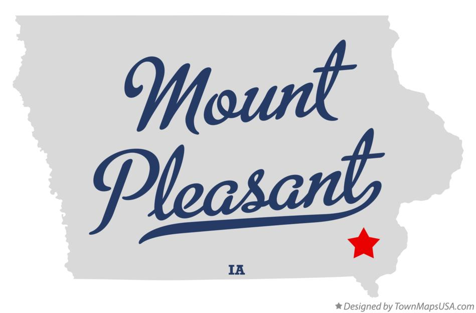 Map of Mount Pleasant Iowa IA