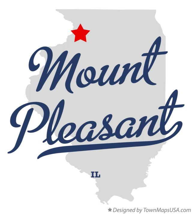 Map of Mount Pleasant Illinois IL