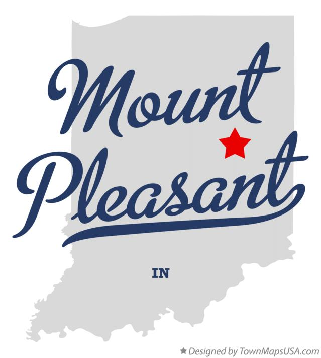 Map of Mount Pleasant Indiana IN