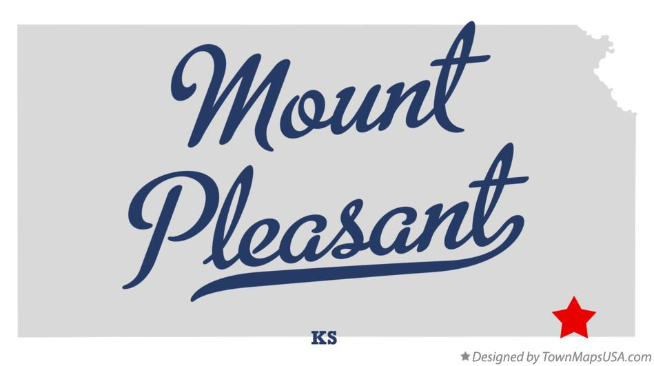 Map of Mount Pleasant Kansas KS