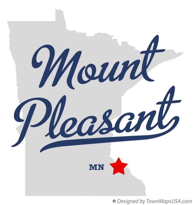 Map of Mount Pleasant Minnesota MN
