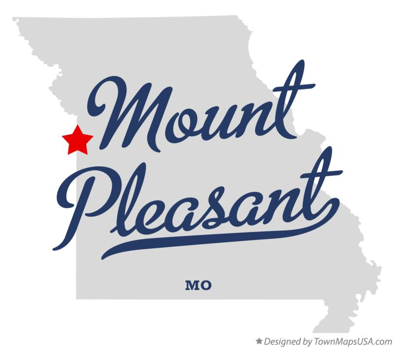 Map of Mount Pleasant Missouri MO
