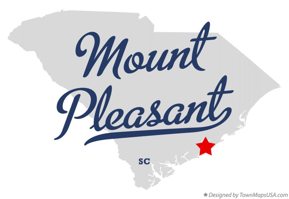 Map of Mount Pleasant South Carolina SC
