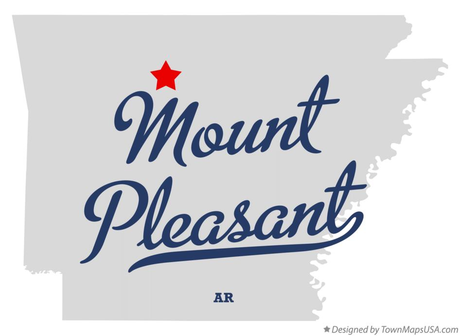 Map of Mount Pleasant Arkansas AR