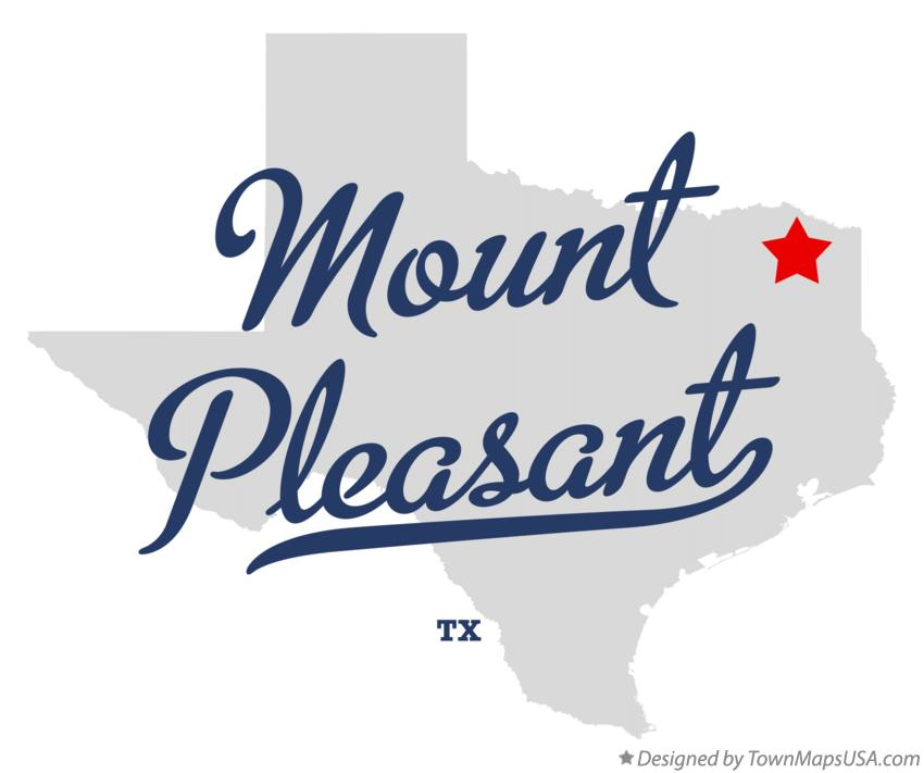 Map of Mount Pleasant Texas TX