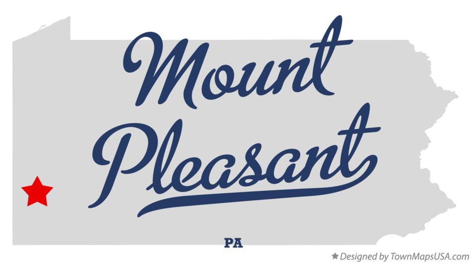 Map of Mount Pleasant Pennsylvania PA