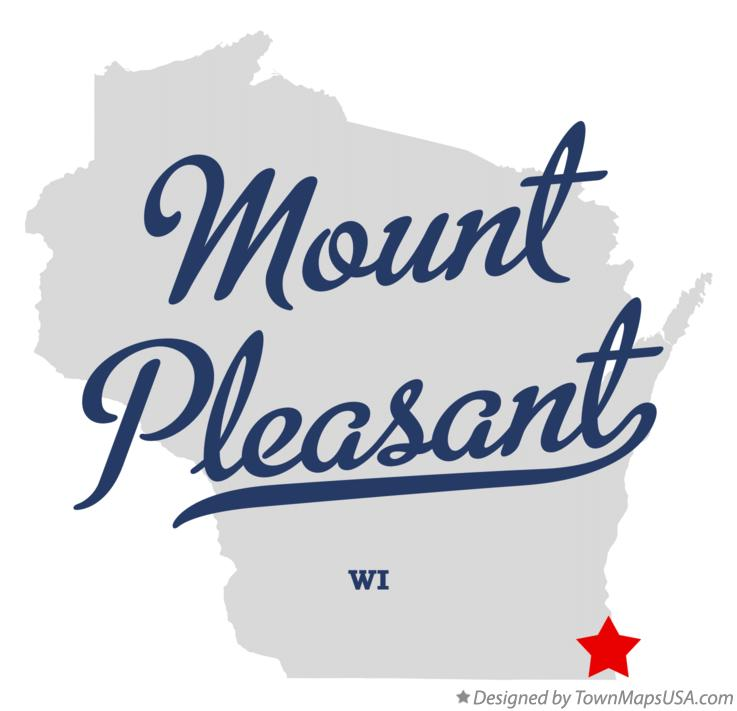Map of Mount Pleasant Wisconsin WI