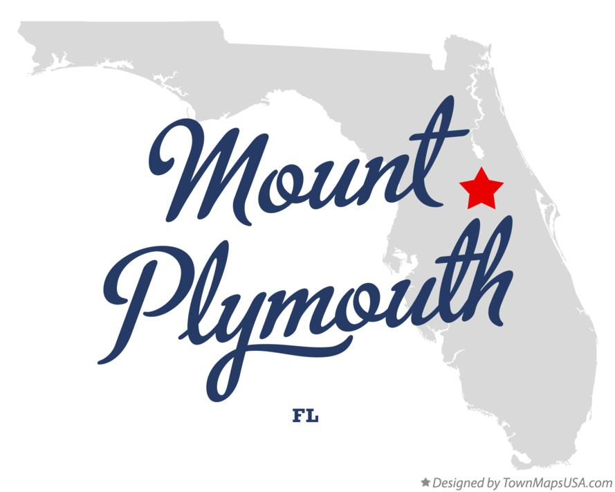 Map of Mount Plymouth Florida FL