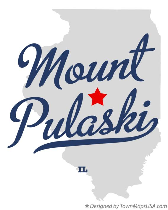 Map of Mount Pulaski Illinois IL