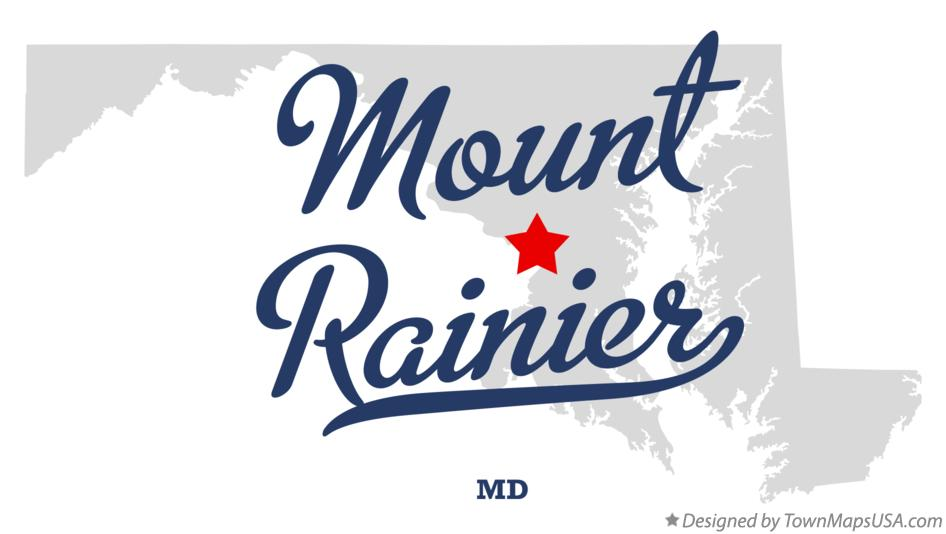 Map of Mount Rainier Maryland MD
