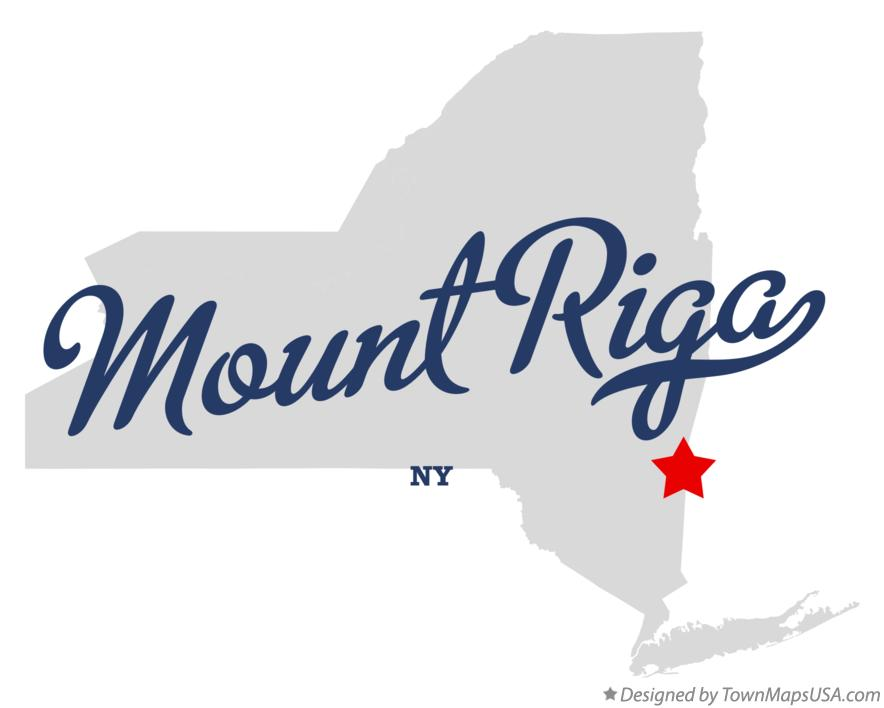 Map of Mount Riga New York NY
