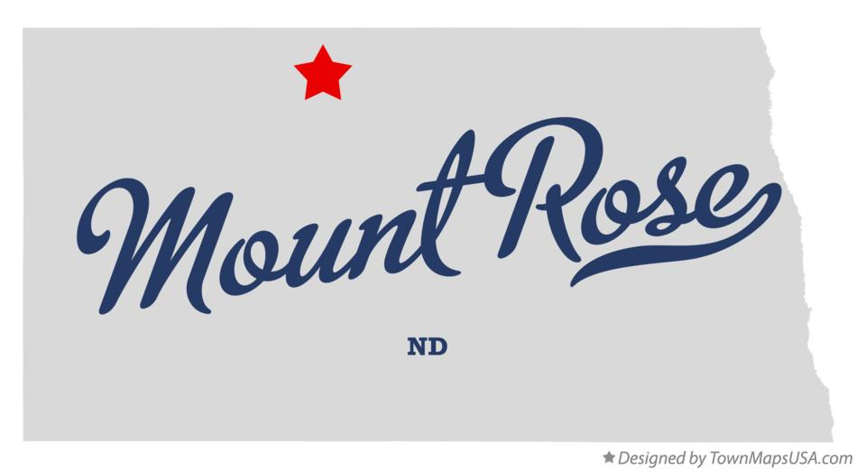 Map of Mount Rose North Dakota ND